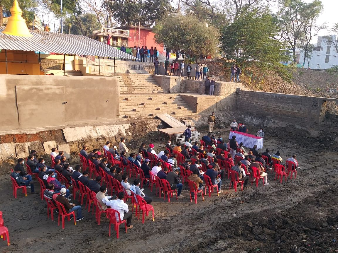 IMC meeting in a dried nullah