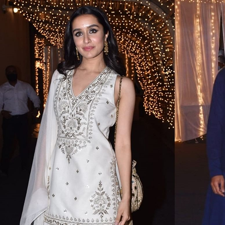 In Pics: Shraddha Kapoor spotted with rumoured beau Rohan Shrestha at cousin Priyaank Sharma's wedding