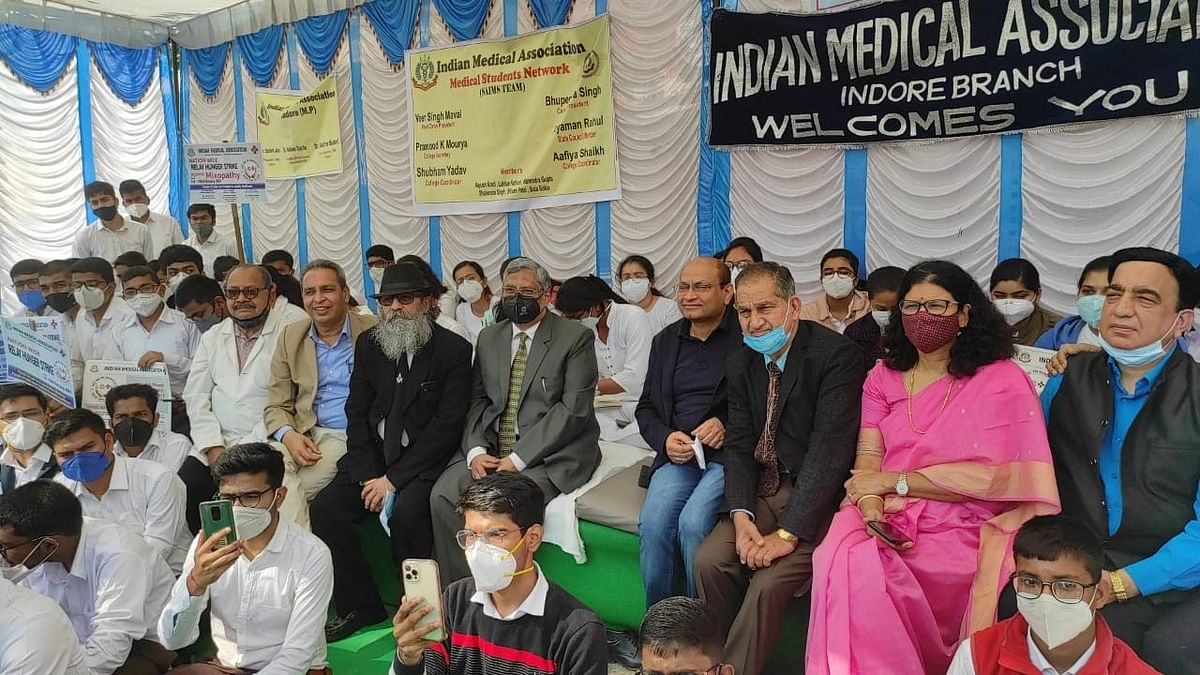 ​Indore: IMA hunger strike against mixopathy​