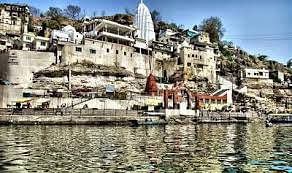 Omkareshwar Jyotirling temple on banks of Narmada river