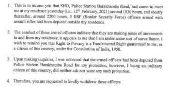'Some sort of surveillance': TMC MP Mahua Moitra asks Delhi Police to withdraw personnel posted outside her home