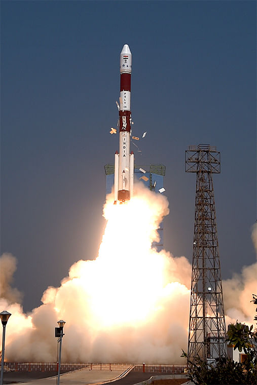 PSLV rocket on Sunday carried an electronic copy of Bhagavad Gita and a photo of Prime Minister Narendra Modi into as space it successfully launched Amazonia-1 of Brazil and 18 other satellites from the spaceport at Sriharikota