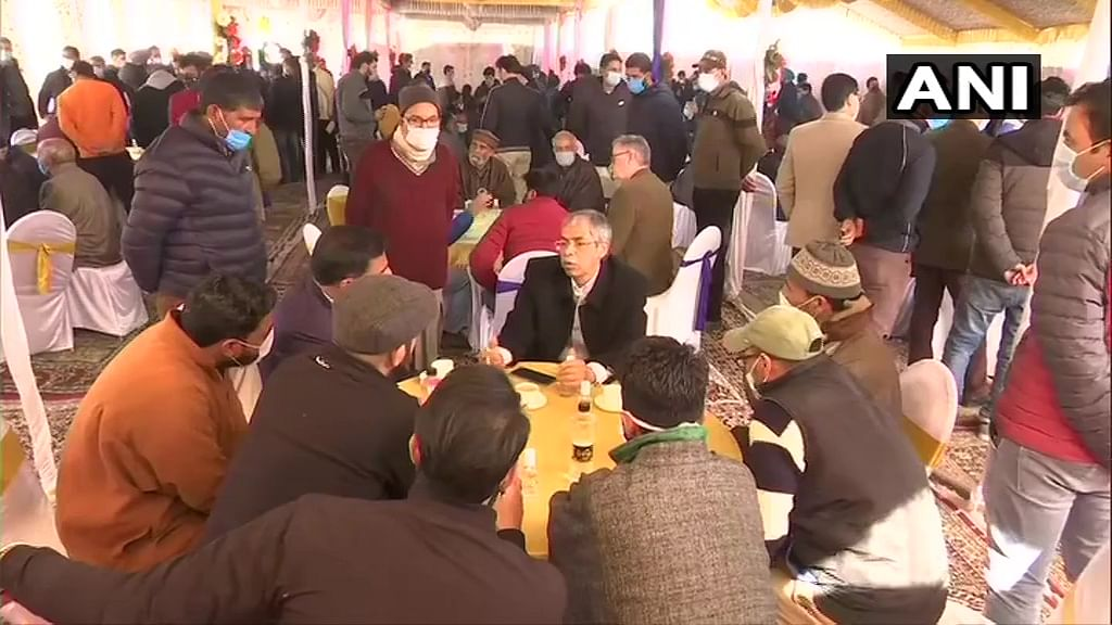 Foreign envoys interact with locals in Magam block of Budgam district.