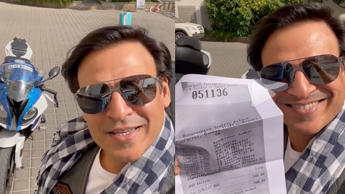 Watch: Vivek Oberoi teases Mumbai Police with 'pawri' meme after being fined for riding bike sans helmet