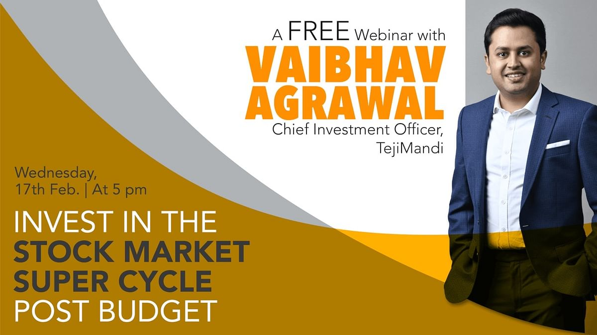 Teji Mandi organises free webinar on 'Invest in the stock market super cycle post budget' - Check details here
