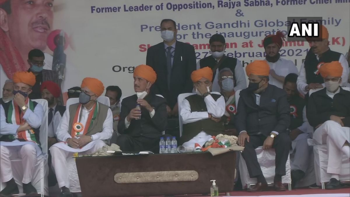 G-23 of Congress leaders at 'Shanti Sammelan' in Jammu