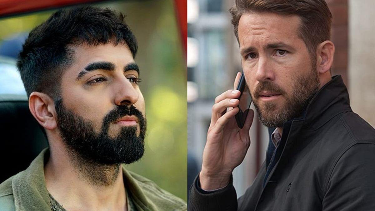 L - Ayushmann Khurrana, R - Ryan Reynolds