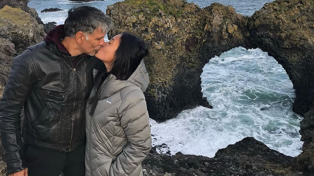 Milind Soman, Ankita Konwar share loved-up throwback pics as they celebrate 7 years of togetherness
