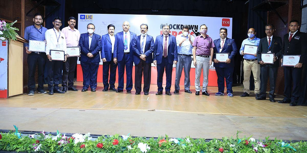 LIC of India felicitates motormen of Central Railway Mumbai