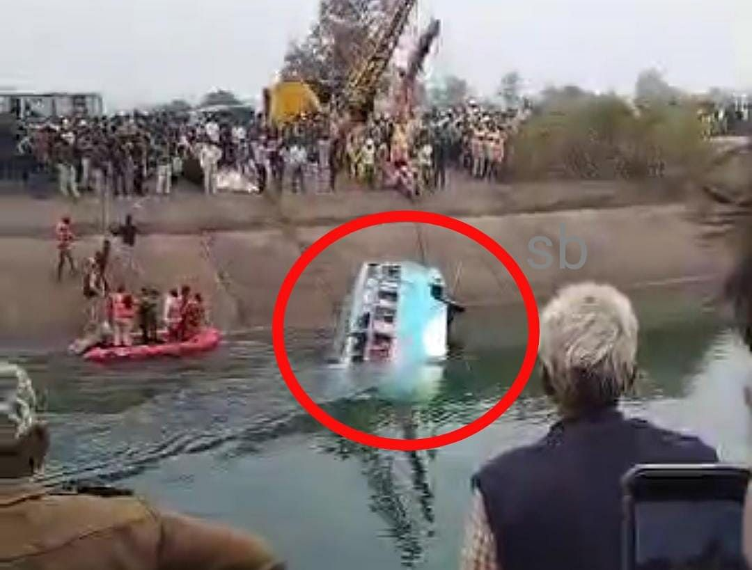 Madhya Pradesh: 29 feared drowned as bus falls into canal in Sidhi