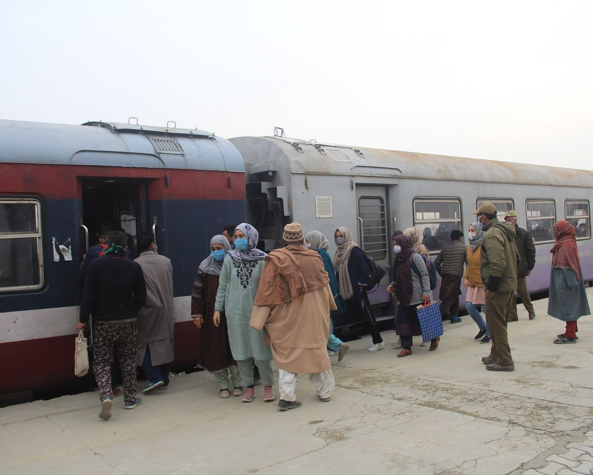 In Pics: Train services in Kashmir resume after remaining suspended for 11 months