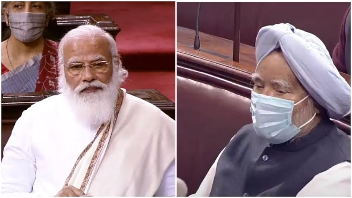 Prime Minister Narendra Modi speaking in Rajya Sabha during his reply to the Motion of Thanks on the President's Address