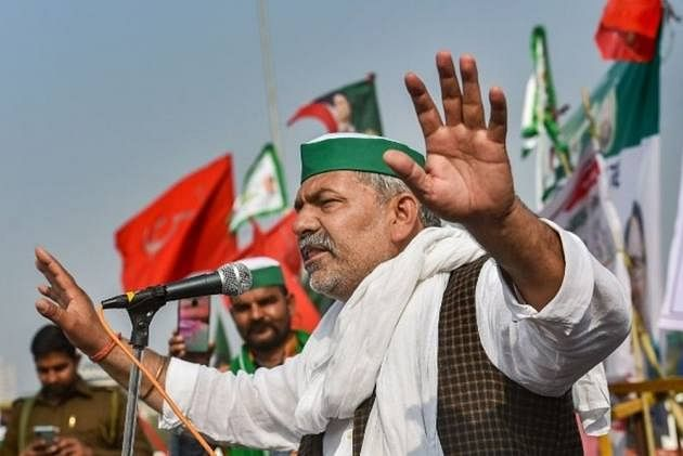BKU leader Rakesh Tikait's convoy attacked by 'BJP goons' in Rajasthan's Alwar