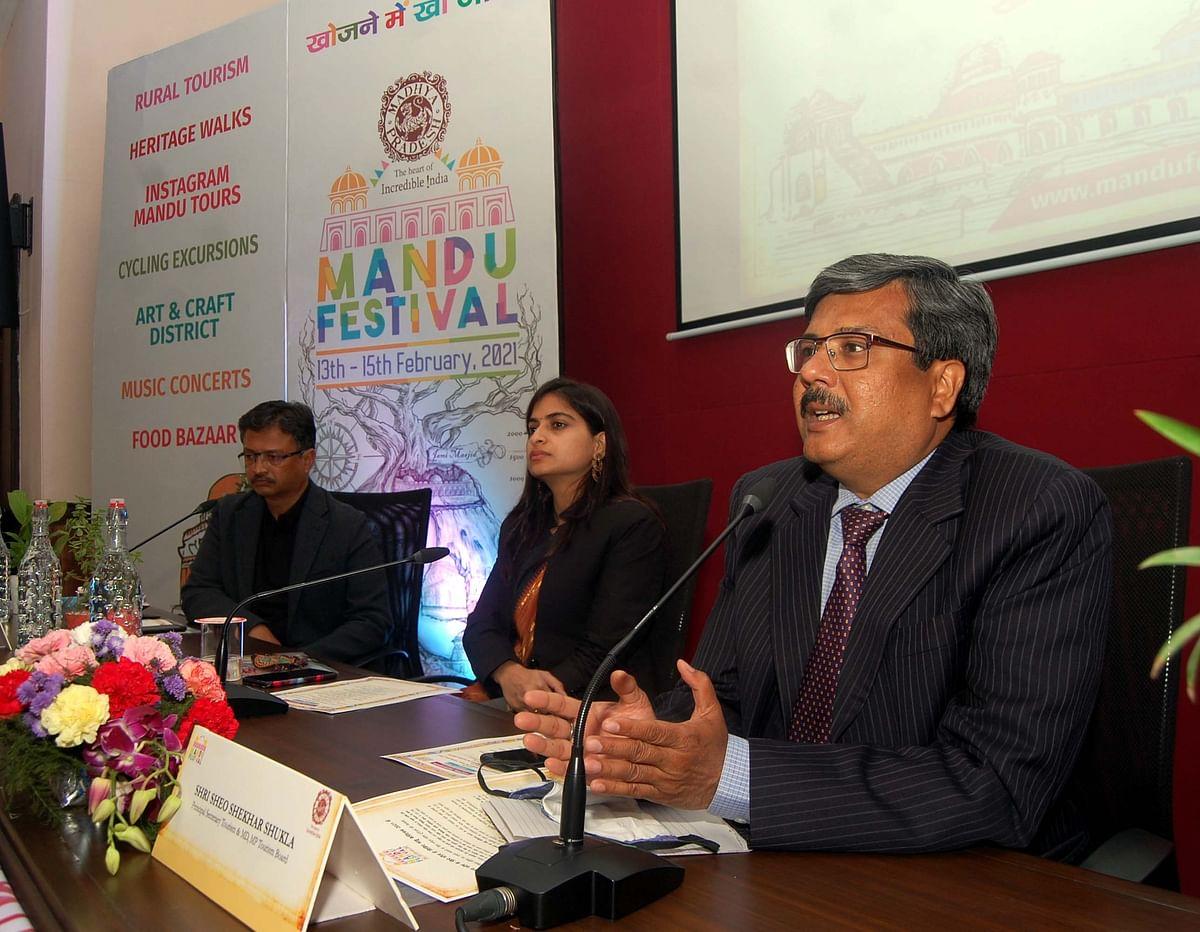 PS, tourism , Sheo Shekhar Shukla speaks on Mandu Festival starting on February 13.