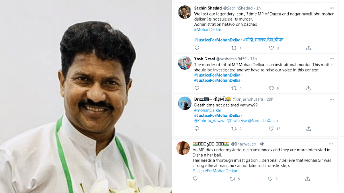 #JusticeForMohanDelkar trends on Twitter as netizens demand probe in 7-time Dadra MP's suicide case