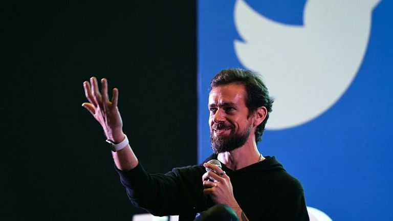 Twitter CEO and co-founder Jack Dorsey gestures while interacting with students at the Indian Institute of Technology (IIT) in New Delhi on November 12, 2018