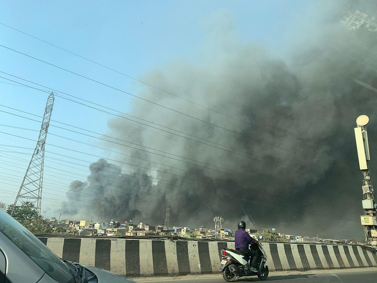Watch: Fire breaks out at a scrapyard in Mankhurd, firefighting underway