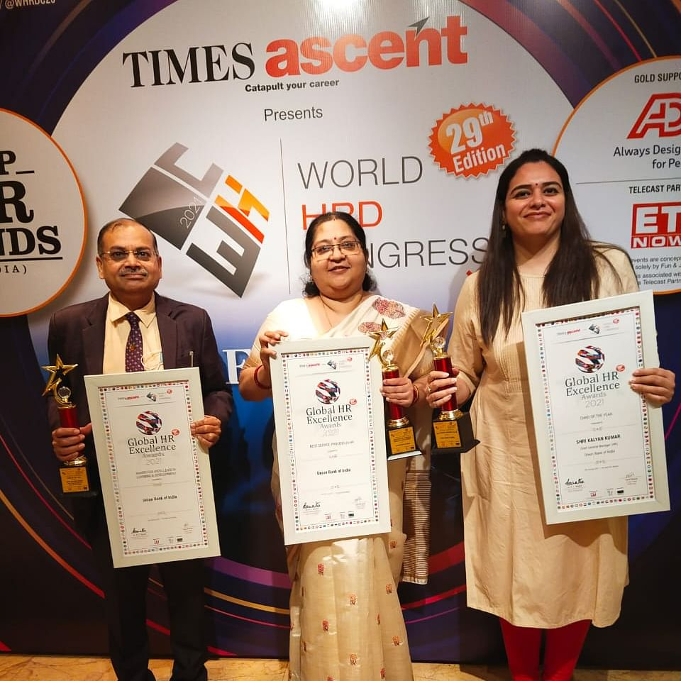 Union Bank Of India wins World HRD Congress Awards