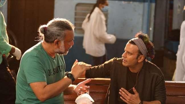 Manoj Bajpayee with Anubhav Sinha
