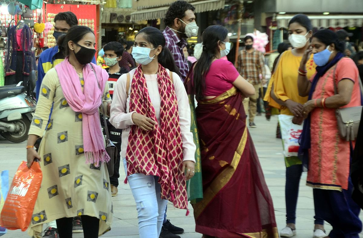 Strictness towards enforcement of Covid -19 norms yields results, as people are seen following the mask guidelines in Bhopal.
