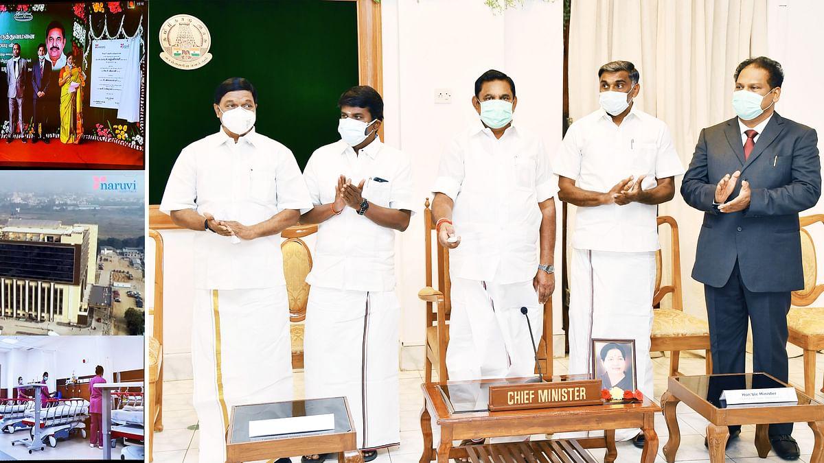 Tamil Nadu Chief Minister Edappadi Palansiwami inaugurates Naruvi Hospital in Vellore
