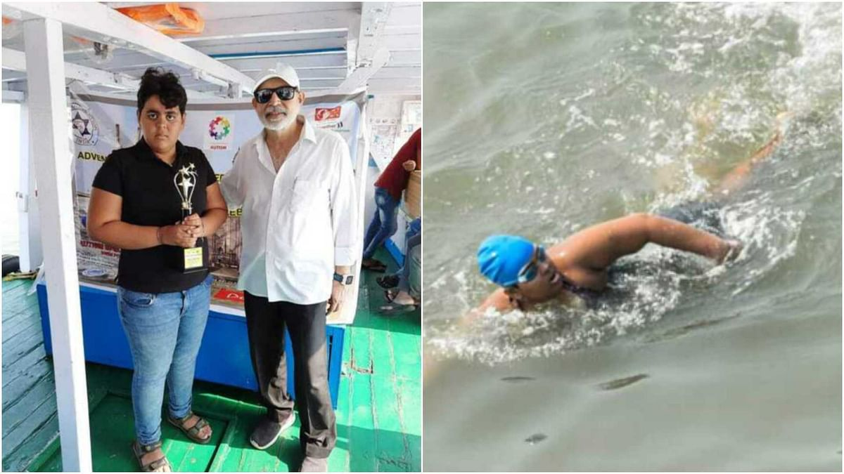 Mumbai: 12 yr old swims from Bandra Worli Sea Link to Gateway of India to create awareness on autism