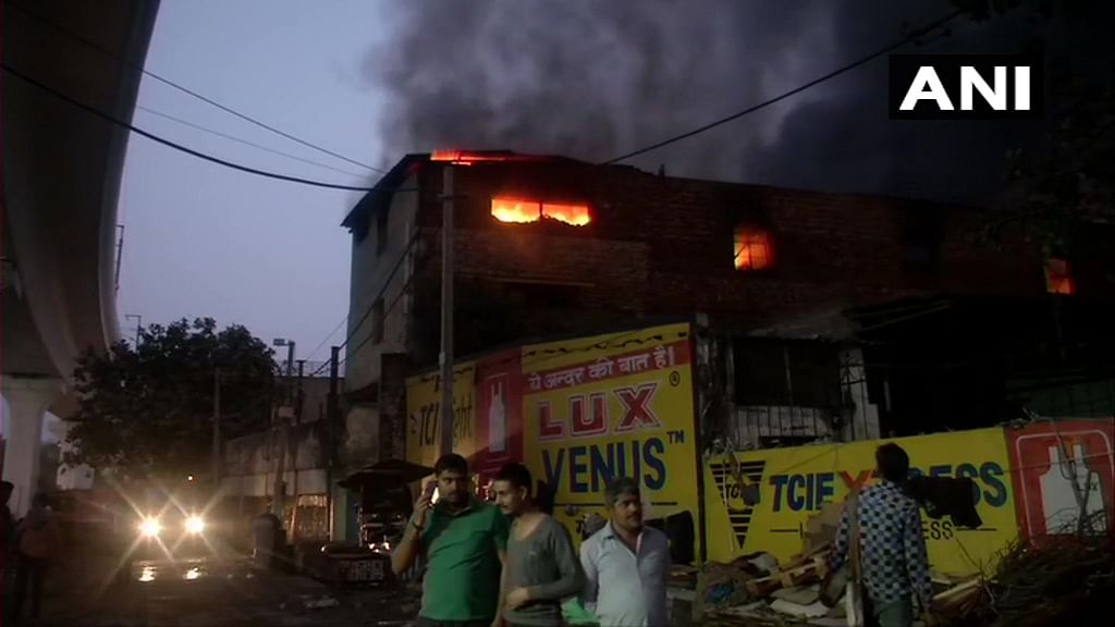 Delhi: Fire at cosmetics factory in Pratap Nagar, one killed