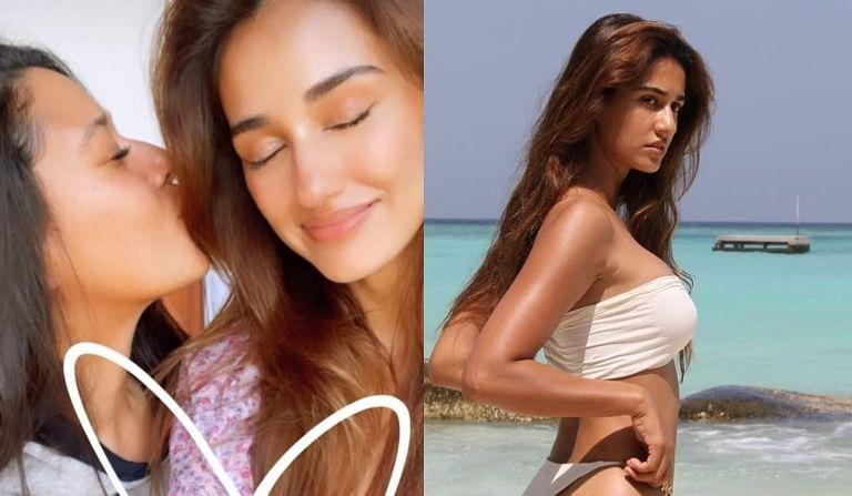 Tiger Shroff's sister Krishna calls Disha Patani 'natural beaut' as actress sizzles in white bikini