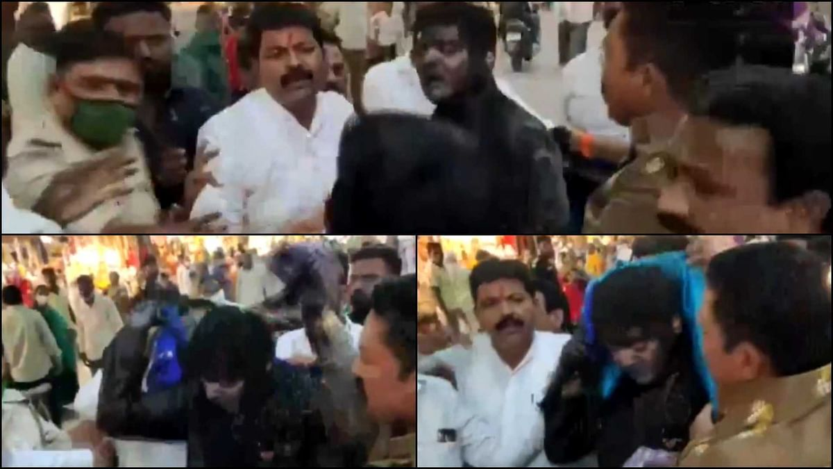 'Why aren't we talking about this?': Twitter outraged as video of Sena workers pouring ink, forcing BJP leader to wear sari goes viral