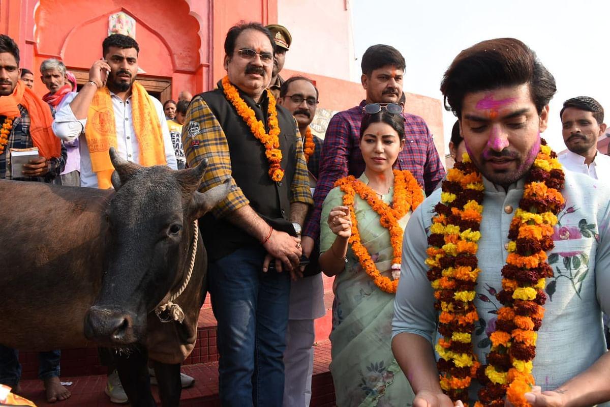 TV's Ram-Sita Gurmeet Choudhary and Debina Bonnerjee visit Ayodhya on wedding anniversary; see pics