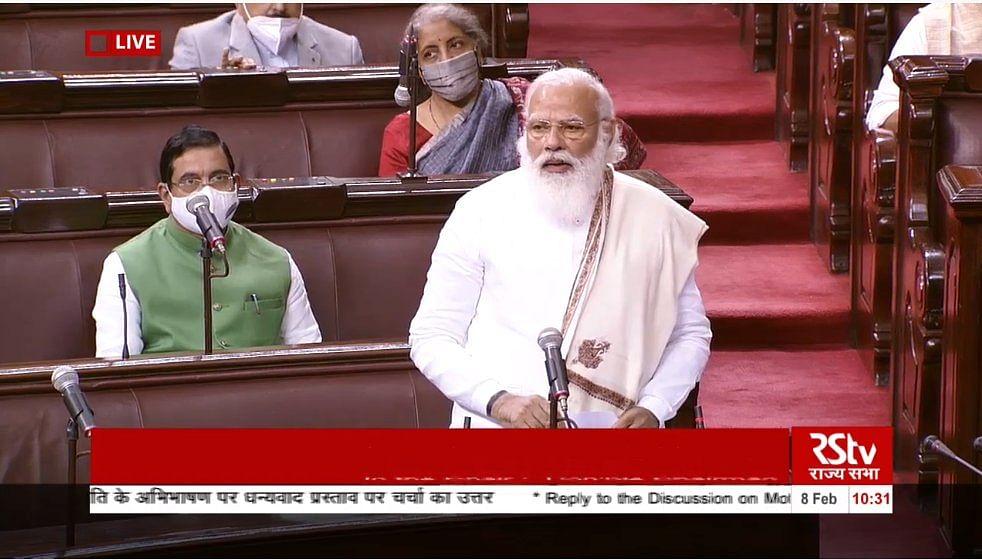 MSP, new FDI, 'Andolan Jivi' and more: Highlights of PM Modi's Rajya Sabha speech
