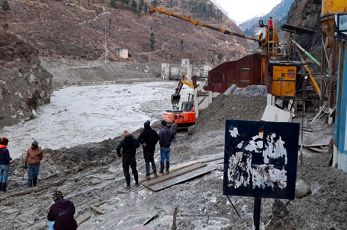 A rescue operation is underway after Glacier broke off at Joshimath, in Chamoli on Sunday.