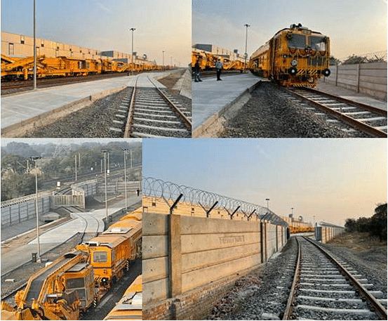 Western Railway connects track machine plant to railway network through siding at Lakodara station