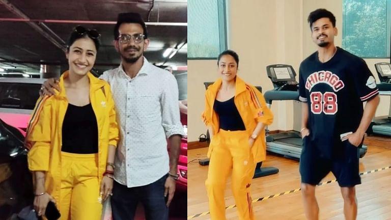 Watch: Shreyas Iyer shows off his 'footwork' with Yuzvendra Chahal's wife Dhanashree Verma