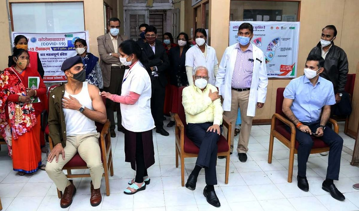 Phase 2 of Covid-19 vaccination drive begins across Madhya Pradesh: Top officials of district administration, police and Army get shots
