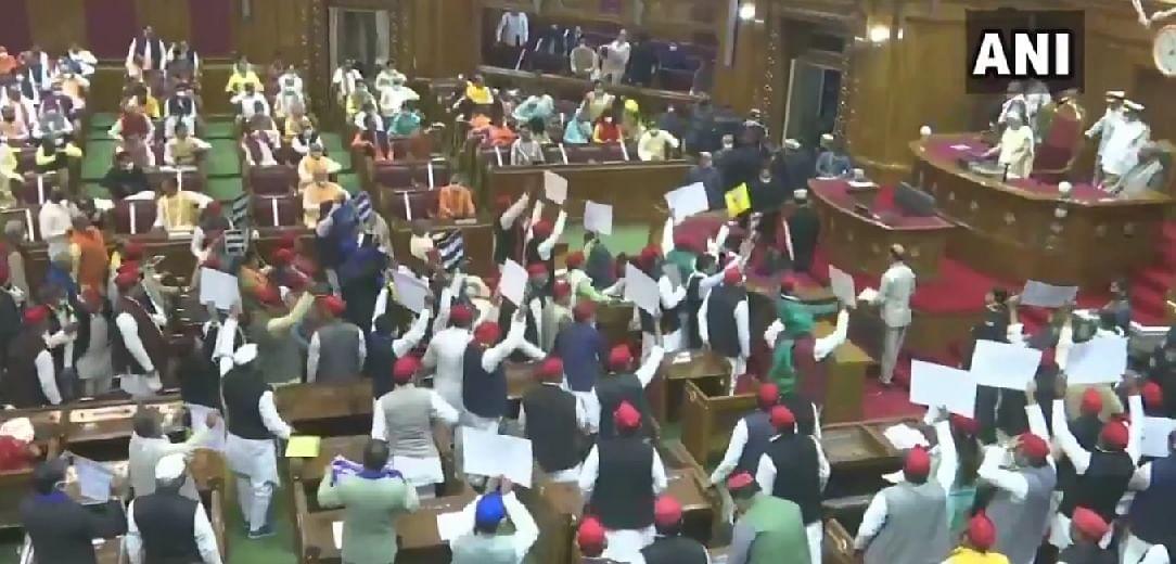 Governor Anandiben Patel addresses joint sitting of state Legislature