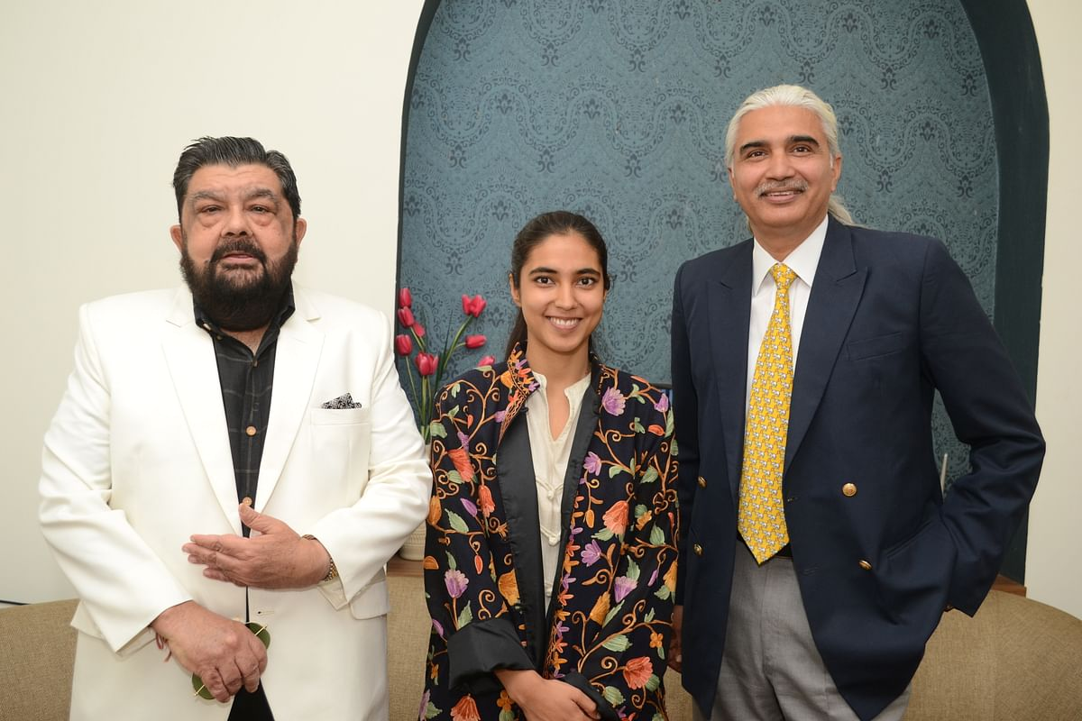 Narendra Singh Jhabua, president, Board of Governors, Daly College with life coach Aishwarya Bedhotiya on Saturday