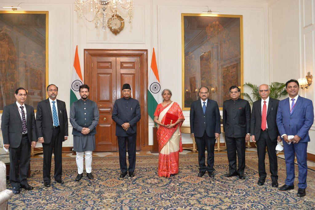 Budget 2021: Nirmala Sitharaman, Finance Ministry officials meet Prez Kovind ahead of Budget speech