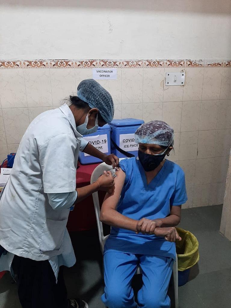 Sewa Sadan Eye Hospital gets vaccinated in Bhopal
