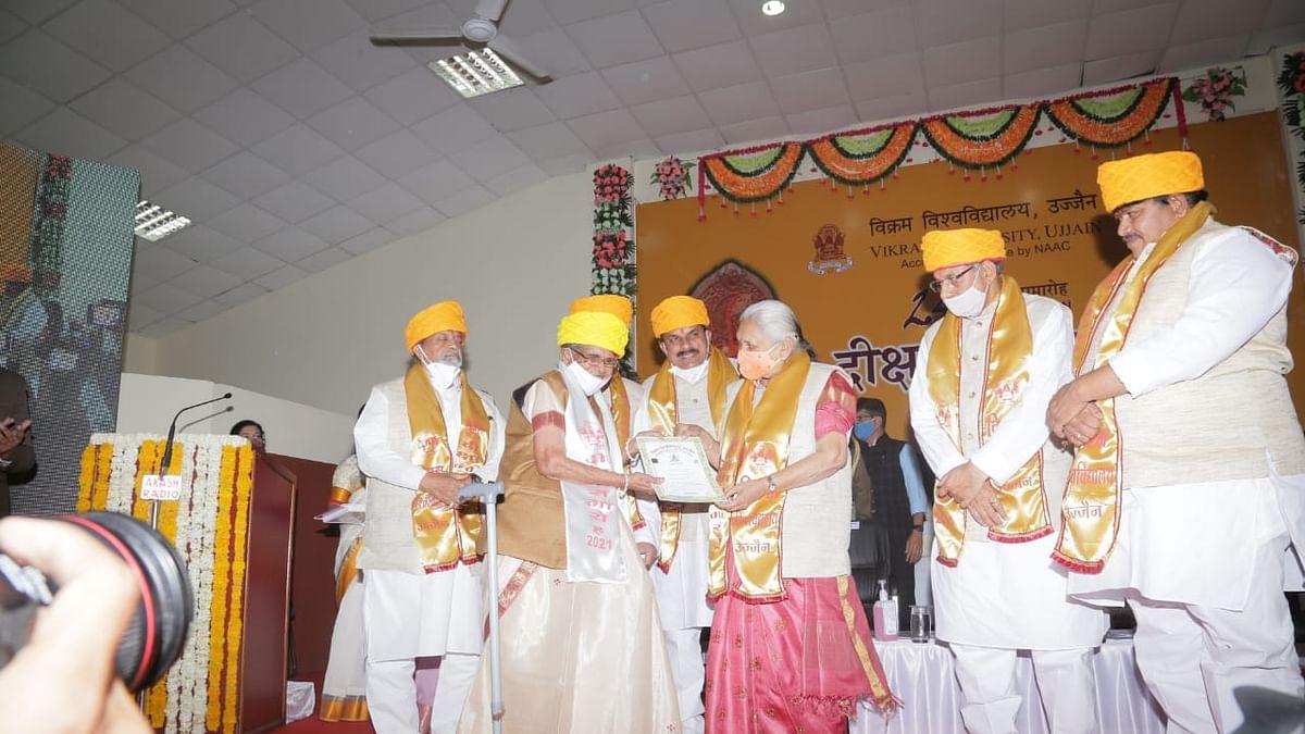 75-year-old student Shashikala Rawal receives PhD degree from Governor