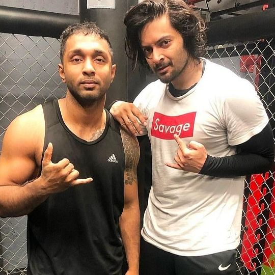 'Mirzapur' actor Ali Fazal takes to kickboxing, trains with famous fitness MMA coach Rohit Nair