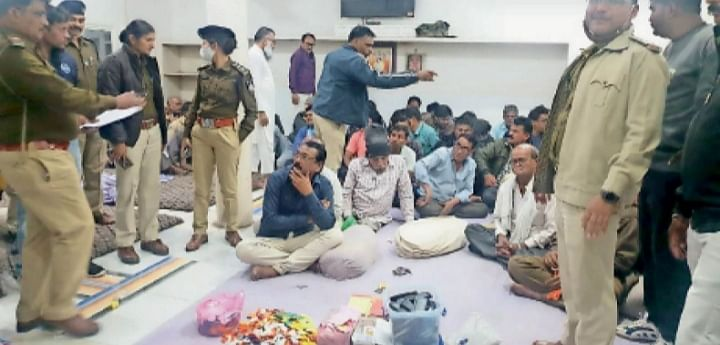 Madhya Pradesh: Club in Barwani owned by municipal council president's husband raided, 48 involved in gambling arrested