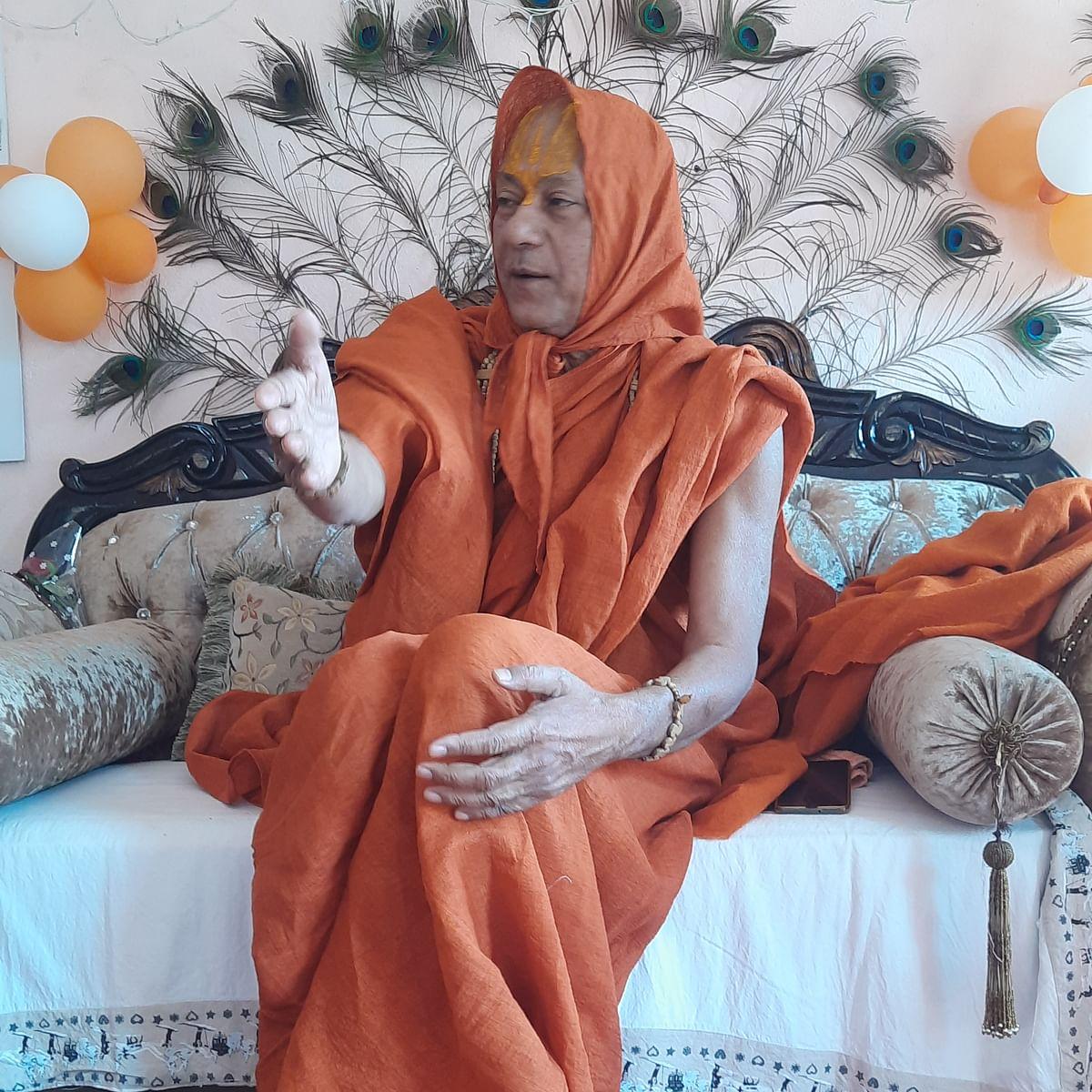 Ujjain: BJP is not mentioning the Congress's work for Ram Temple anywhere, says Jagadguru Ramnareshacharya