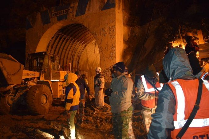 A search and rescue operation to reach around 30 people trapped in it after a flashflood-hit Joshimath area of Chamoli district has been on for a week