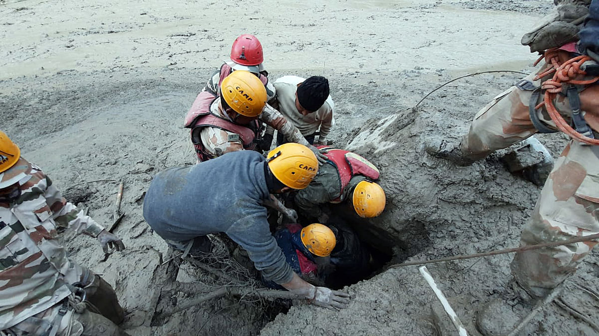 Uttarakhand glacier burst: 15 people rescued, 14 bodies recovered from different locations, says Chamoli Police
