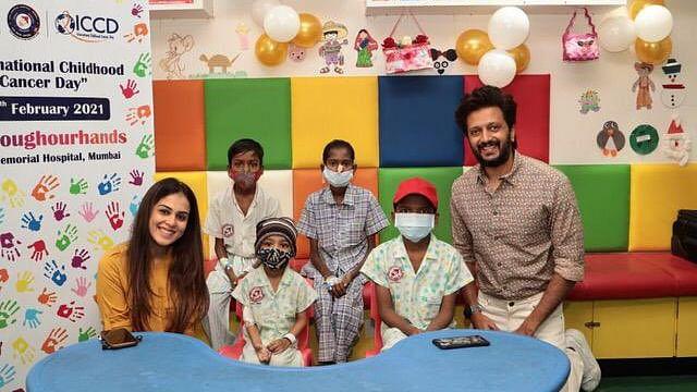 International Childhood Cancer Day 2021: Riteish Deshmukh, wife Genelia visit Mumbai's Tata Memorial Hospital