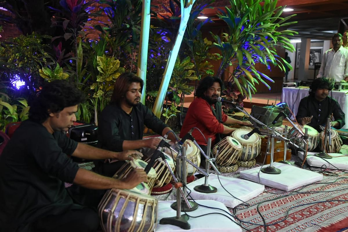 Salim Aallahwale and troupe performed at Bharat Bhavan in Bhopal on Sunday