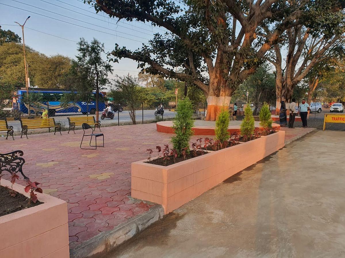 Garden at Badnawar police station