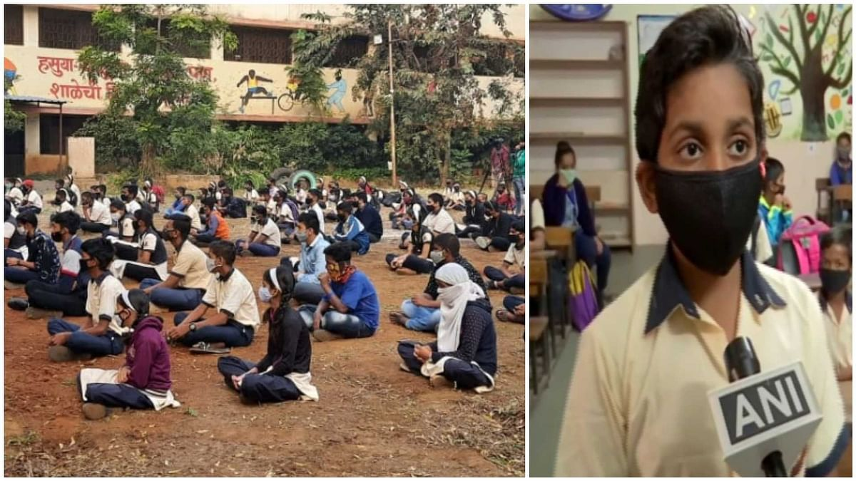 Pune: Students elated as schools for classes 5-8 reopen after 11 months