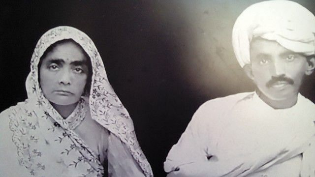 Kasturba and M K Gandhi